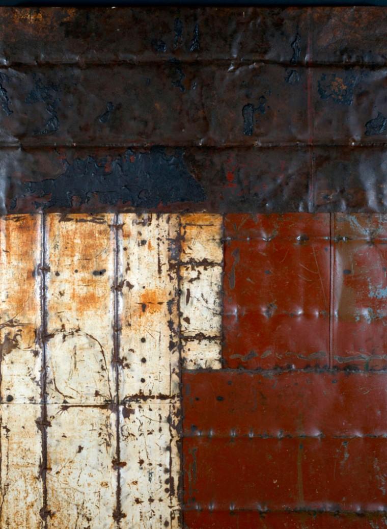 De la serie Desde el silencio, 2013. Mixta sobre Metal. Dimensiones variables