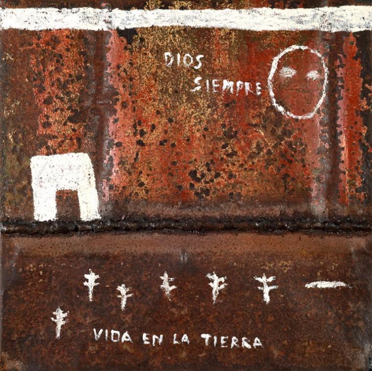 De la serie El alma de las cosas, 2015. Metal.50 x 50 cm
