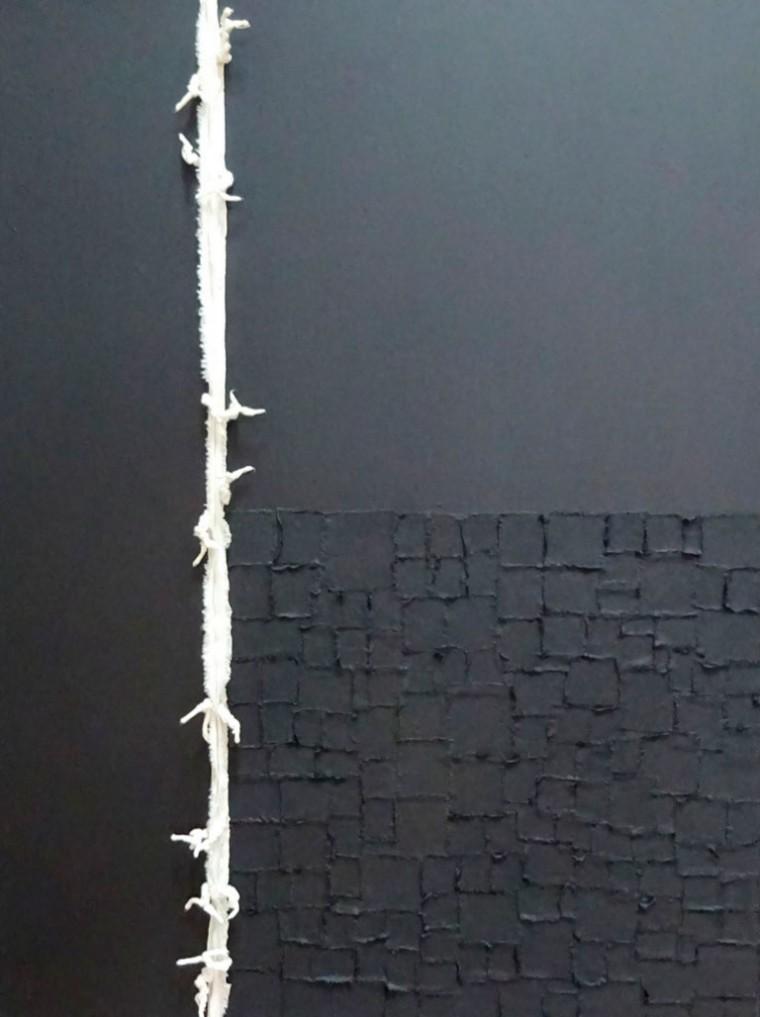 De la serie La piel que habla, 2014. Mixta sobre tela. 80 x 60 cm