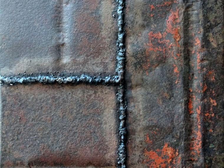 De la serie El alma de las cosas, 2015. Metal.100 x 100 cm