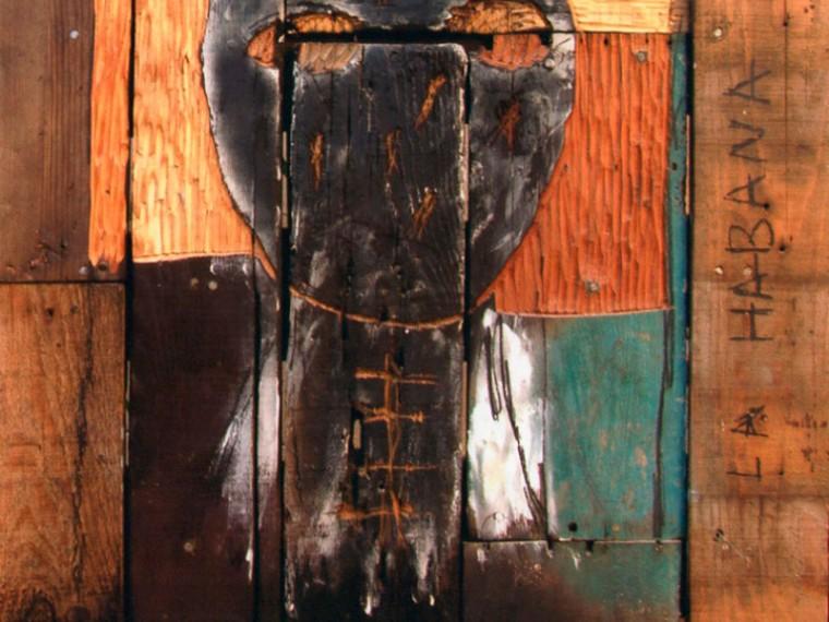 De la serie Yo tengo mi Historia, 2003.Mixta sobre madera, 87 x 56 cm