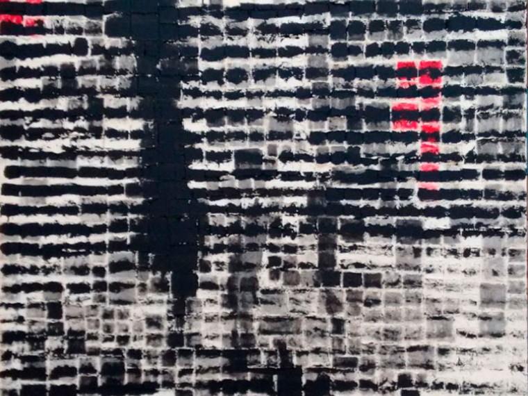 Yo vivo en ti, 2016. Mixta sobre tela. 200 x 150 cm